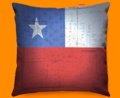 Chile Flag Cushion 45x45cm
