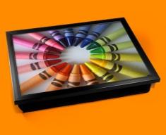 Crayons Cushion Lap Tray