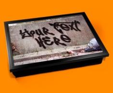 Personalised Custom Graffiti Wall Lap Tray