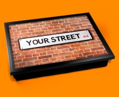 Personalised Custom UK Street Sign Lap Tray