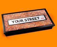 Custom UK Street Name Laptop Tray