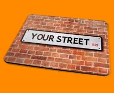 Personalised Custom UK Street Sign Placemat