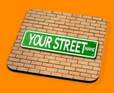 Custom US Street Sign Drinks Coaster
