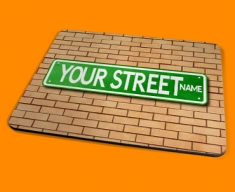 Personalised Custom US Street Sign Placemat