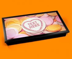 Personalised Custom Candy Sweet Hearts Laptop Tray
