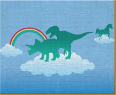 Dino Heaven Canvas Art Print