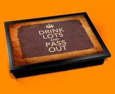 Drink Lots Keep Calm Vintage Lap Tray