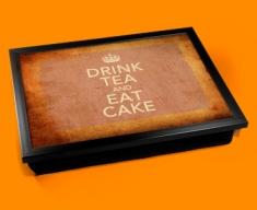 Drink Tea Keep Calm Vintage Lap Tray