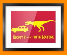 Don't F With Nature Framed Print