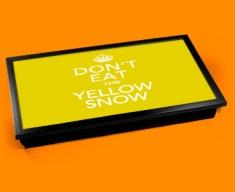 Yellow Snow Keep Calm Laptop Lap Tray