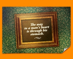 The Way to a Man's Heart Heart Warmer Poster
