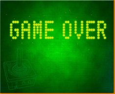 Game Over Canvas Art Print