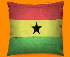 Ghana Flag Cushion 45x45cm