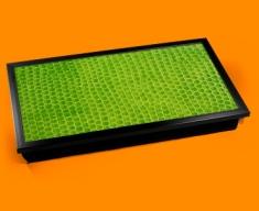 Green Snake Animal Skin Laptop Lap Tray