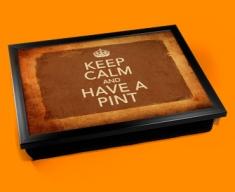 Have a Pint Keep Calm Vintage Lap Tray