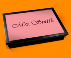 Personalised Custom Hers Name Lap Tray