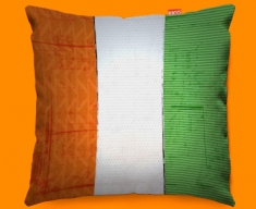 Ivory Coast Flag Cushion 45x45cm