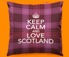 Keep Calm Love Scotland Pink Funky Sofa Cushion 45x45cm