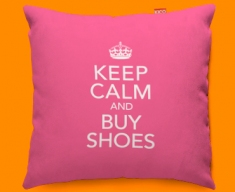 Keep Calm Buy Shoes Funky Sofa Cushion 45x45cm