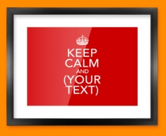 Keep Calm Custom Framed Print