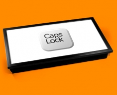 Key Caps Lock White Laptop Tray