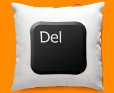 Keyboard Key Delete Black Funky Sofa Cushion 45x45cm