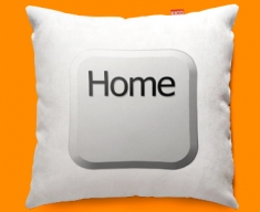 Keyboard Key Home White Funky Sofa Cushion 45x45cm