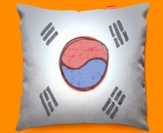 Korea Flag Cushion 45x45cm