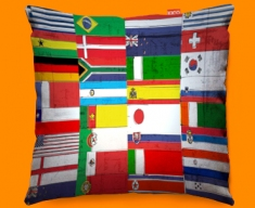 All Flags Cushion 45x45cm