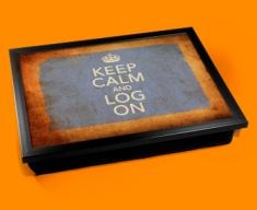 Log On Keep Calm Vintage Lap Tray