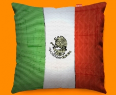 Mexico Flag Cushion 45x45cm
