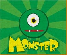 Monster Canvas Art Print