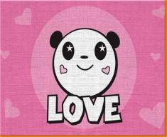 Panda Love Canvas Art Print