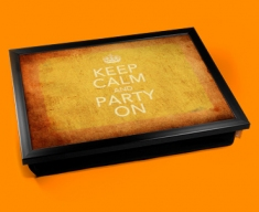 Party On Keep Calm Vintage Lap Tray