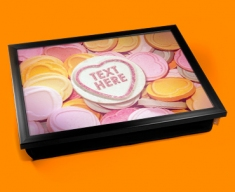 Personalised Custom Candy Sweet Hearts Lap Tray