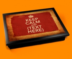 Personalised Custom Keep Calm Vintage Lap Tray
