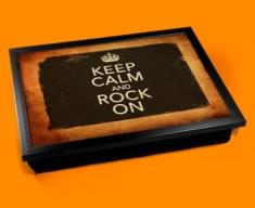 Rock On Keep Calm Vintage Lap Tray