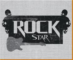 Rock Star Canvas Art Print
