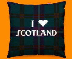 I Love Scotland Blue Funky Sofa Cushion 45x45cm