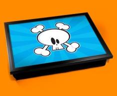 Skull Bones Cushion Lap Tray