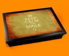 Smile Keep Calm Vintage Lap Tray