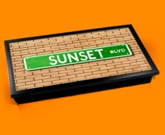 Sunset Blvd Street Sign Laptop Lap Tray
