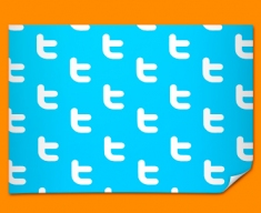 Twitter Pattern Social Networking Poster