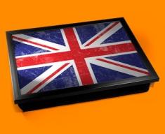Union Jack Cushion Lap Tray