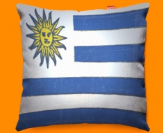 Uraguay Flag Cushion 45x45cm
