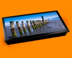 Wittering Beach Posts Laptop Lap Tray