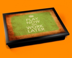 Work Later Keep Calm Vintage Lap Tray