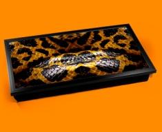 Yellow Snake Animal Skin Laptop Lap Tray